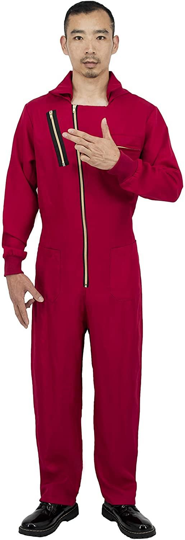 Original Jumpsuit Costume Overalls for Dali, Red (S)
