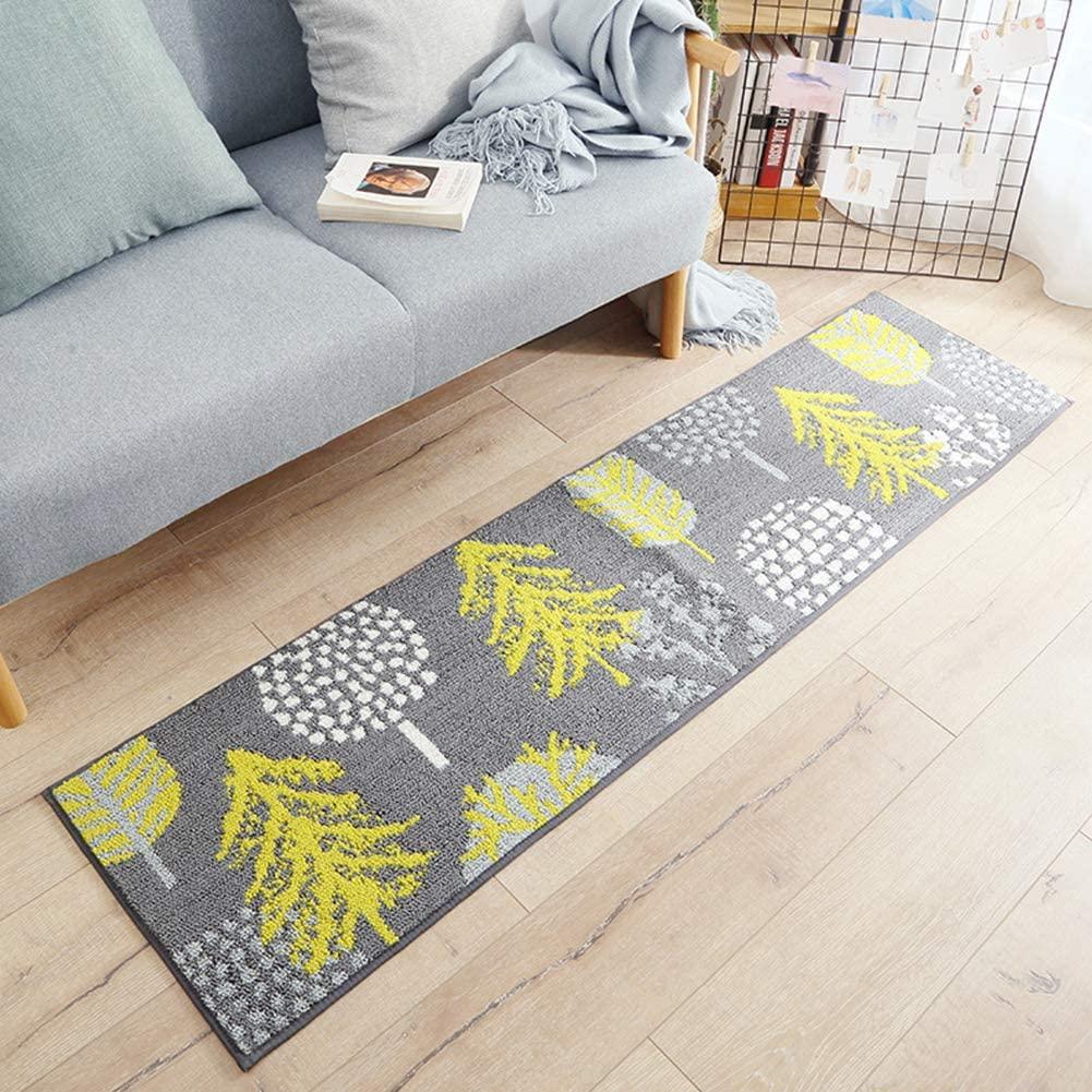 FairOnly Wear Resistant Nonslip Carpet Doormat for Home Living Room Bedroom Bedside Deciduous Golden Autumn 45120cm Convenient Life
