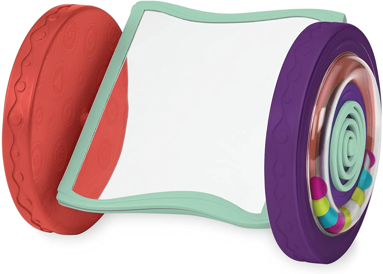 B. toys by Battat Looky-Looky Crawl Along Mirror – Sensory Crawling Toy for Babies