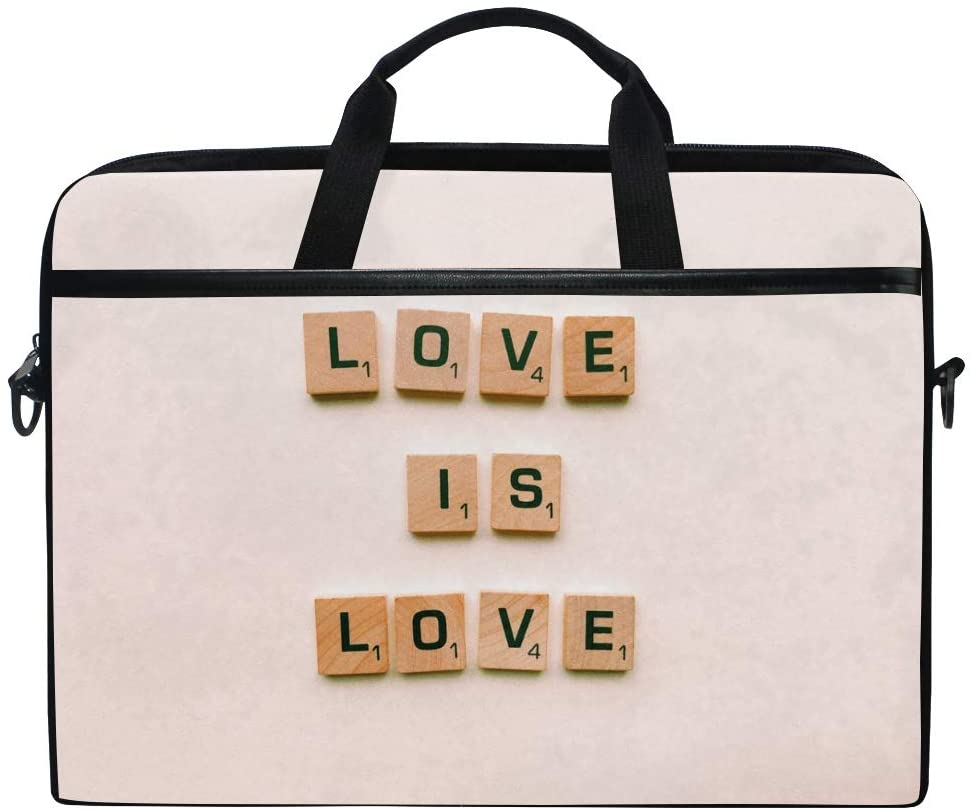Alphabets Cubes Letters Men's and Women's Computer Bags, Handbags, Briefcases, Shoulder Bags, Suitable for 15 Inch Computers