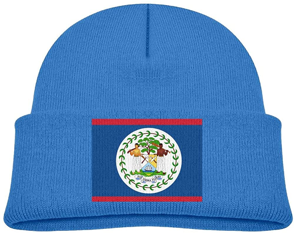 lead-do Baby Boys Girls Flag of Belize Kint Beanie Hats Toddler & Kids Winter Warm Kinted Caps(2-6T)