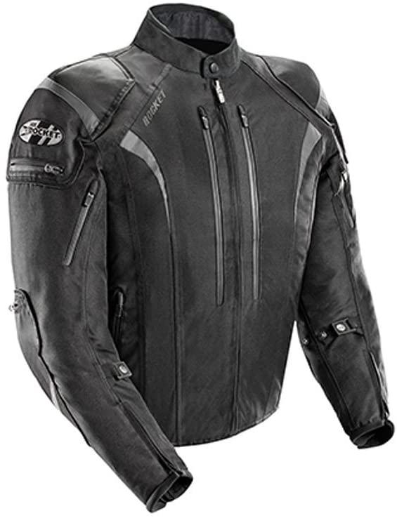 Joe Rocket Men's 5.0 Textile Motorcycle Jacket (Black, X-Large)