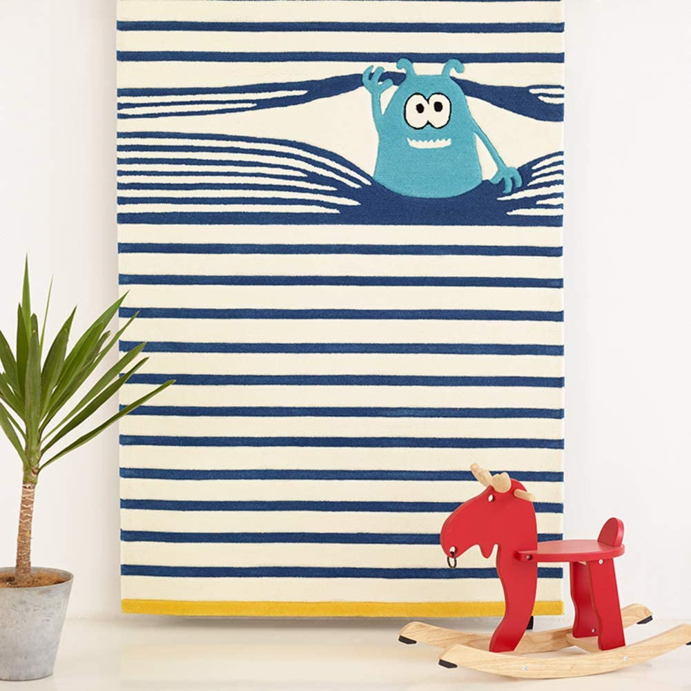 LoveHome Cartoon Rugs for Baby Bedroom,Cushy-Soft & Thick Eco-Friendly Crawling Rugs for Baby Children Kids Room Rug Kids Floor Mat-a 140x200cm(55x79inch)