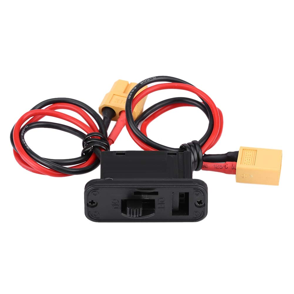 Large Current Power RC Airplane Switch, Quick Connect On/Off Connector Lead Airplane Model Switch, Toy Plane Toys for RC Airplane Airplane Model