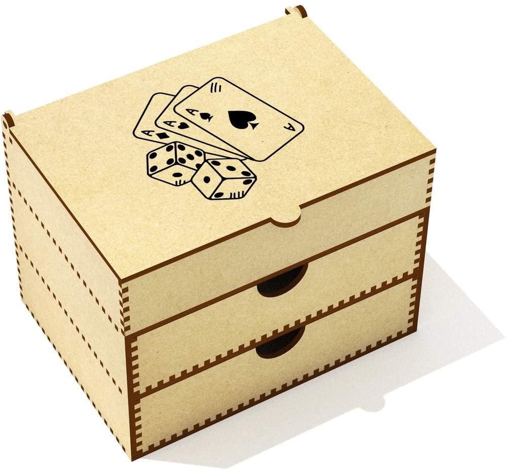 Azeeda 'Cards & Dice' Vanity Case / Makeup Box (VC00014641)
