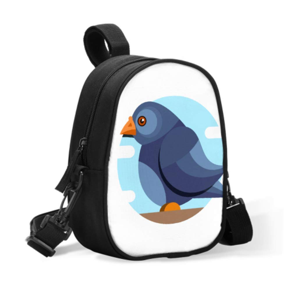 Baby Bottle Travel Bag Happy Funny Cartoon Fat Pigeon Baby Girl Lunch Bag Baby Bottle Bag Easily Attaches to Stroller for Travel Baby Bottle Warmer Or Cool