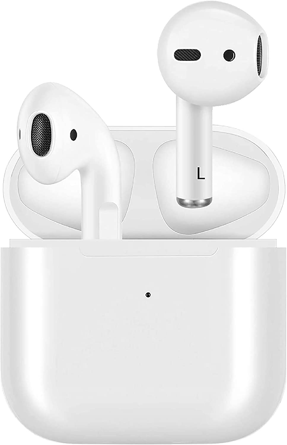 【Mini PRO 4】 Wireless Earbuds, Bluetooth 5.0 Headphones TWS Stereo Touch Control Earphones with Wireless Charging Case Mini Car Built-in Mic Headset,Compatible for iPhone/Android(2020 New Earbuds)