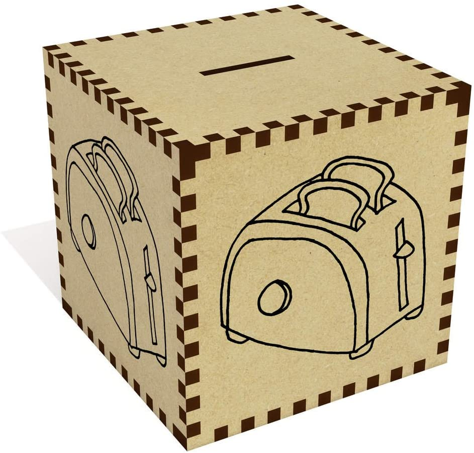 Azeeda Large 'Toast in Toaster' Money Box / Piggy Bank (MB00012386)