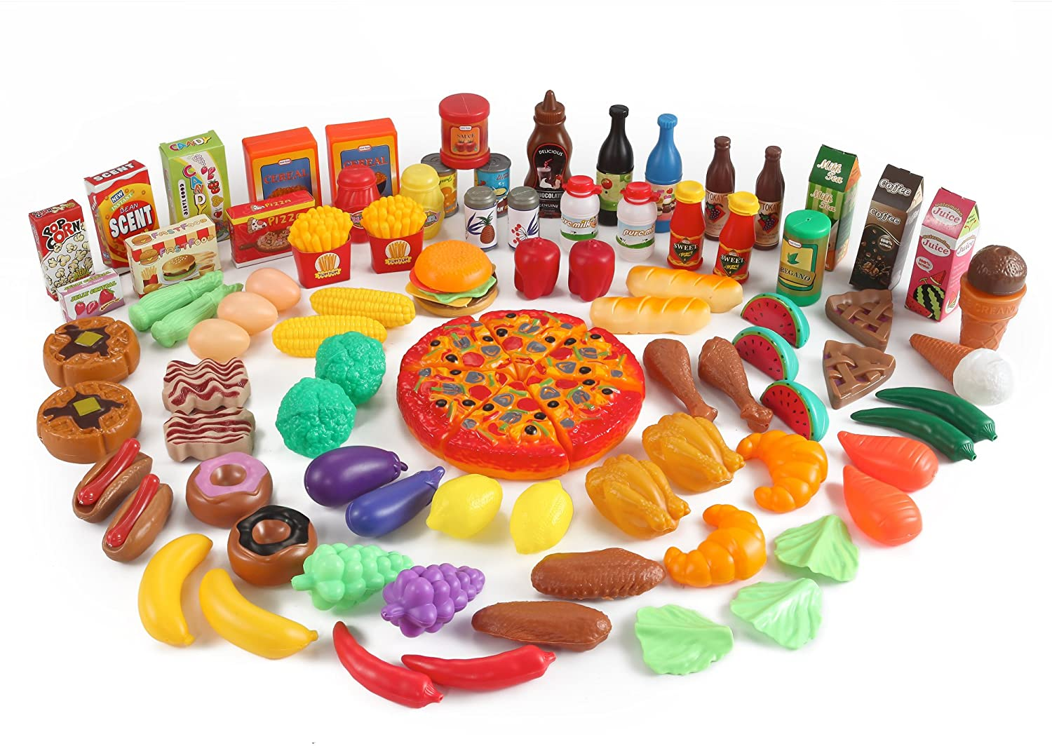 Value Pack Groceries and Meals Play Food Set (101 Pcs)