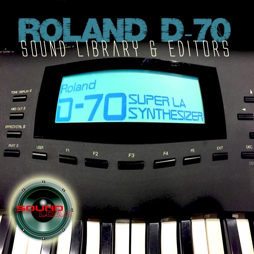 for ROLAND D-70 Large Original Factory & NEW Created Sound Library & Editors on CD or download