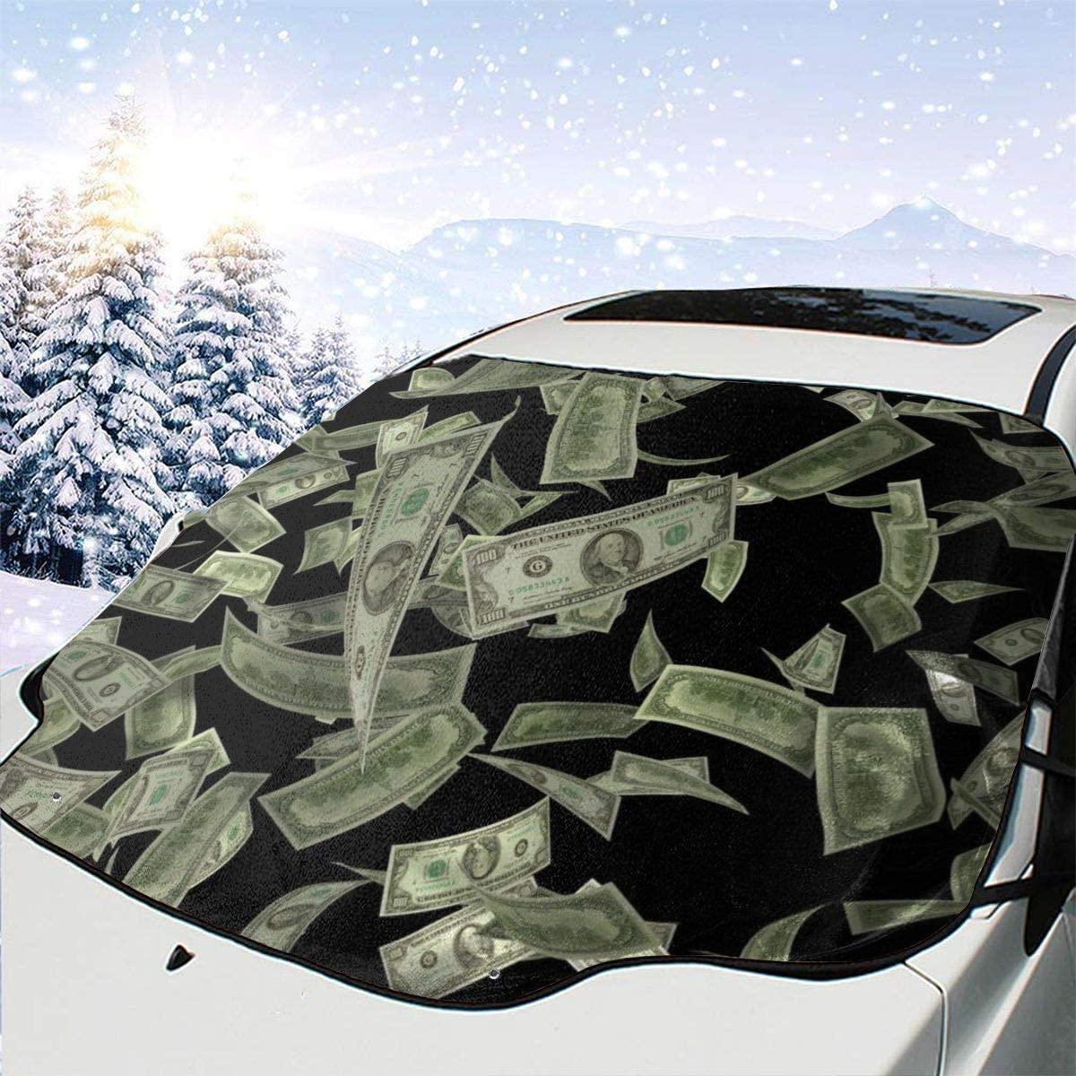 THONFIRE Car Front Window Windshield Winter Sunshade Dollar Cover Sand Proof Blocks UV Rays Keeps Your Vehicle Cool Visor Protector Trucks Summer Heat Insulation