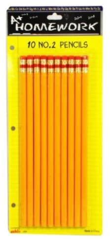 Pencils No.2 - 10 Count Case Pack 48