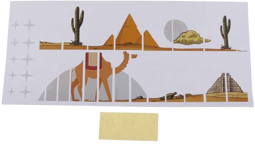 PVC Guitars Fretboard Fingerboard Inlay Decals Notes Guitar Decoration - Desert Camel Pattern