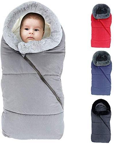 LZiioo Baby Universal Winter Footmuff Swaddle for Pram Baby Car Seat Sleeping Bag Waterproof Windproof with Two-Way Zipper