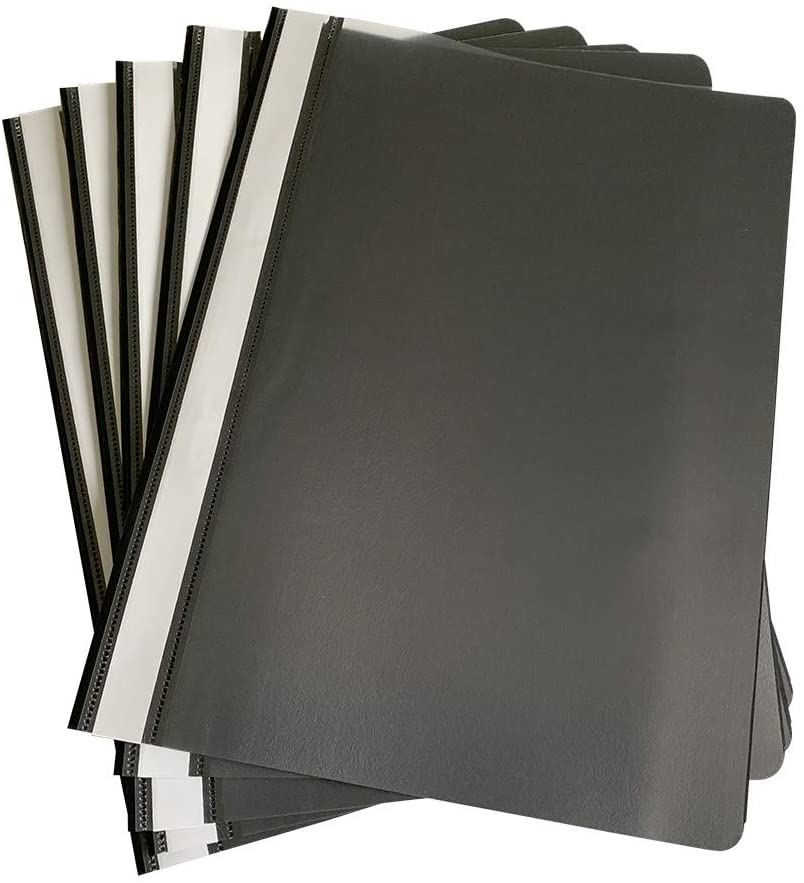 Pack of 120 Black A4 Project Folders by Janrax