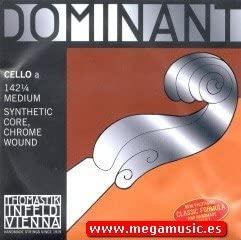 CUERDA VIOLONCELLO - Thomastik (Dominant 142) (Metal/Cromo) 1ª Medium Cello 1/4 (La) A (Una Unidad)