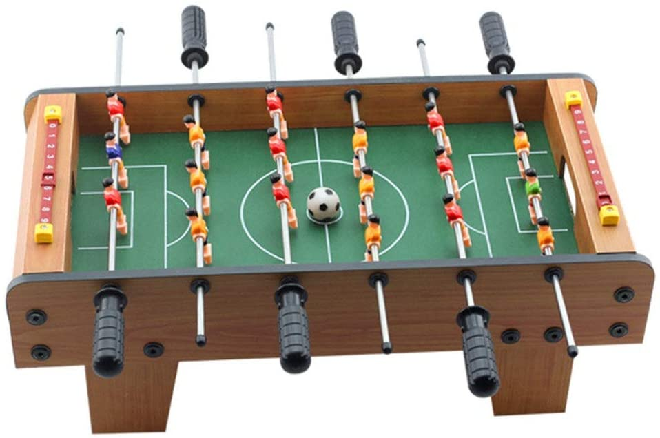 PUEEPDEE Foosball Table Foosball Table Competition Games Sports Games for Adults and Kids Compact Mini Tabletop Soccer Game Foosball Table Cover Outdoor (Color, Size : 50x25x15.5cm)