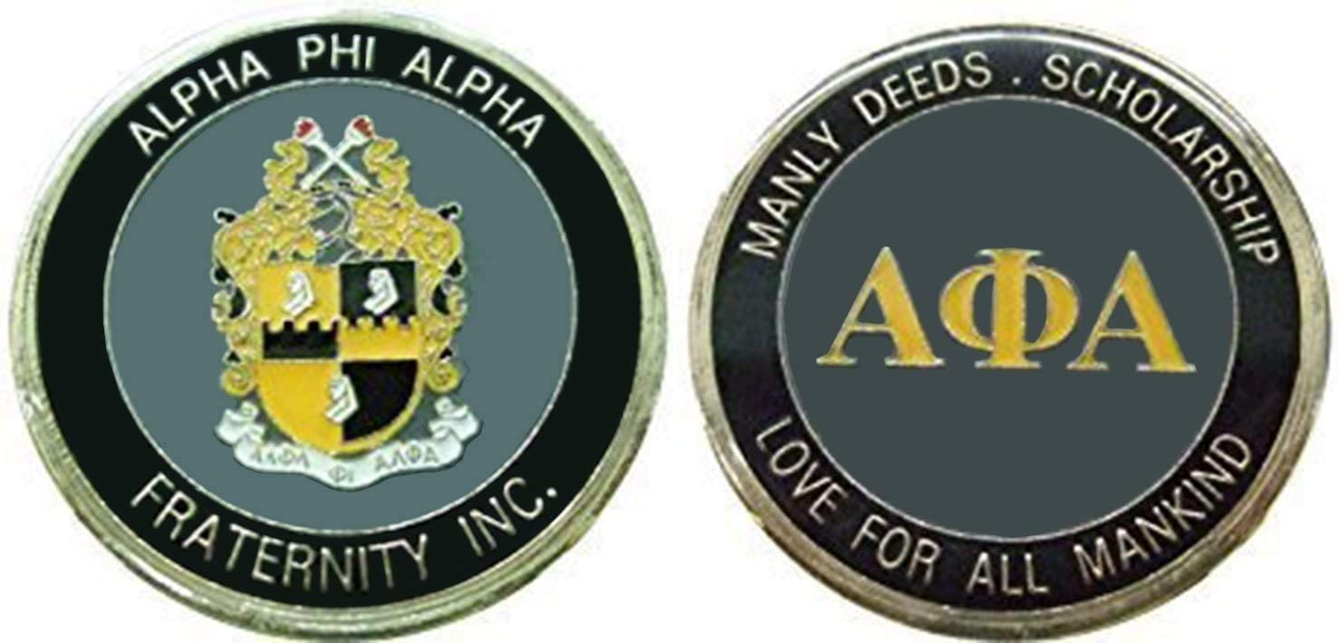 Alpha Phi Alpha Fraternity - Sorority Challenge Coin/Logo Poker/Lucky Chip