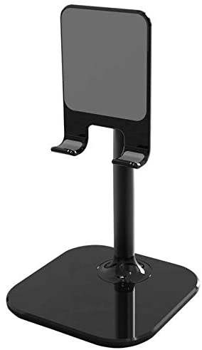 Height Adjustable Multi- Angle Potable Cell Phone Tablet Desktop Stand Holder Mount Cradle Universal for iPhone 11, 10 / LG Stylo 5, 4 / Google Pixel 4, 3a XL/Motorola Moto G7, G6, E5 (Black)