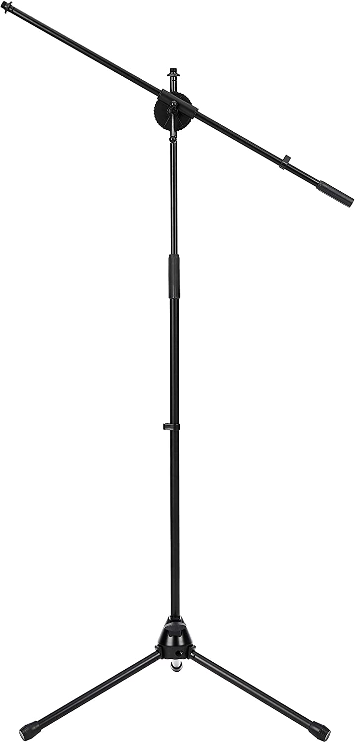 DHgateBasics Tripod Boom Microphone Stand - Height-Adjustable with Metal Base - 3.1 - 5.3-Foot