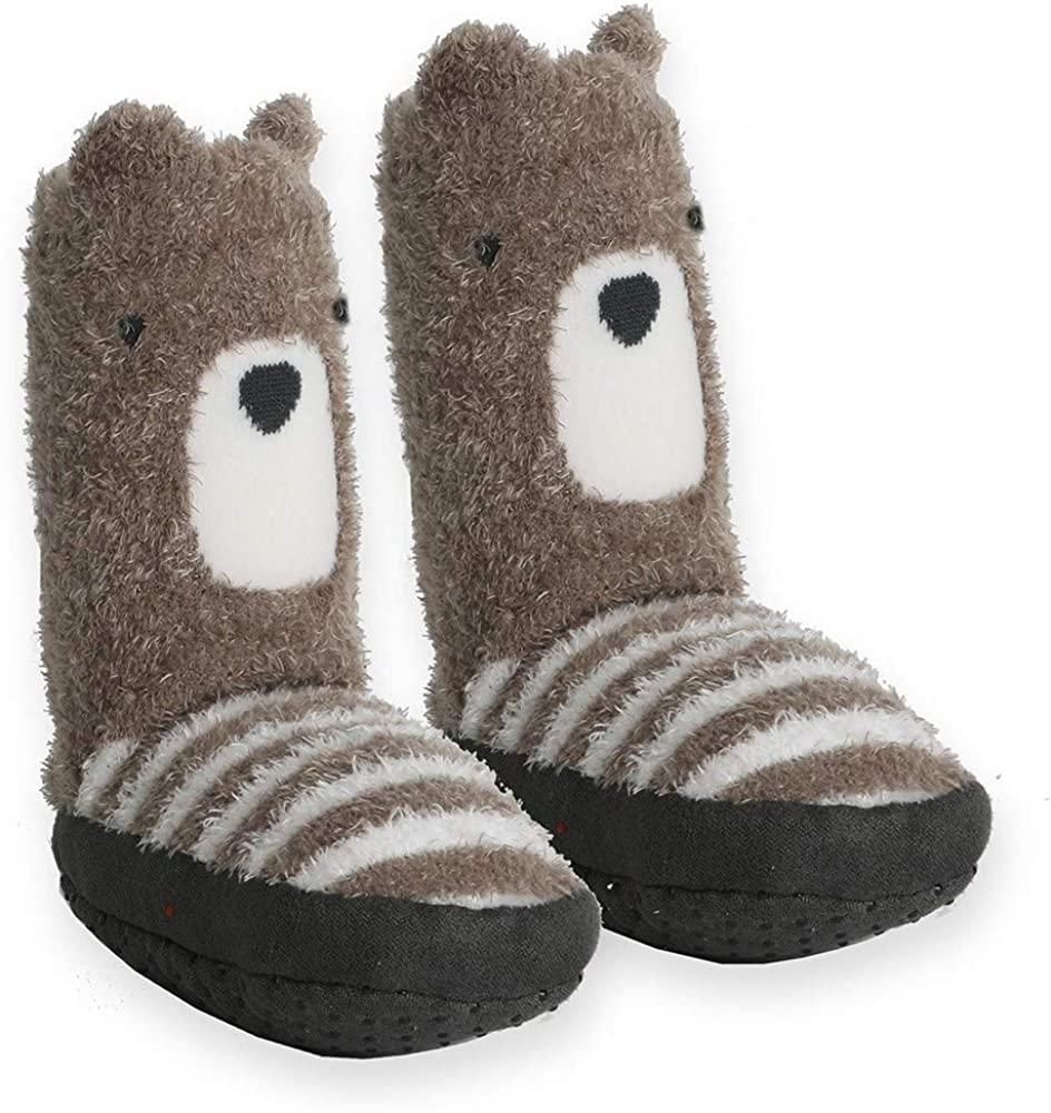 Goldbug Baby & Toddler Non-Slip Gripper Plush Slipper Socks - Unisex, Boys, Girls