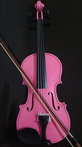Student Acoustic Violin Full 1/8 Maple Spruce with Case Bow Rosin Pink Color (1/4)