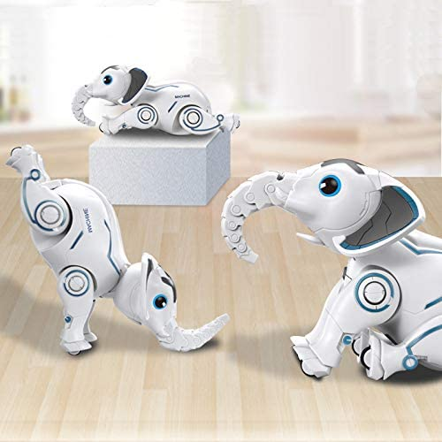 DX DA XIN Remote Control Robot Toy, Interactive Wireless Animal Dancing Ferrule Singing RC Elephant with The Battery or USB Charge Great Gift for Kids Christmas Party Favors Birthday Party Games