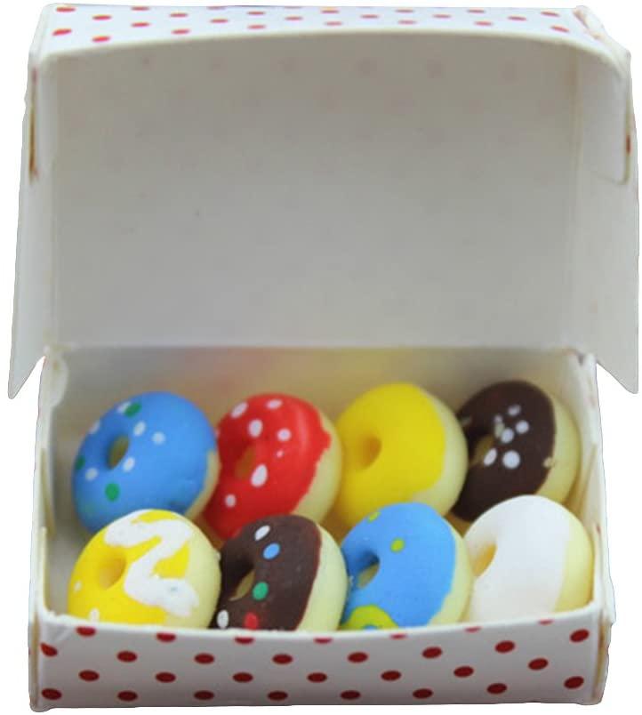 SoundsBeauty Doll House Accessories, Miniature Doughnuts Box Model Mini Ornament Children Toy Gift