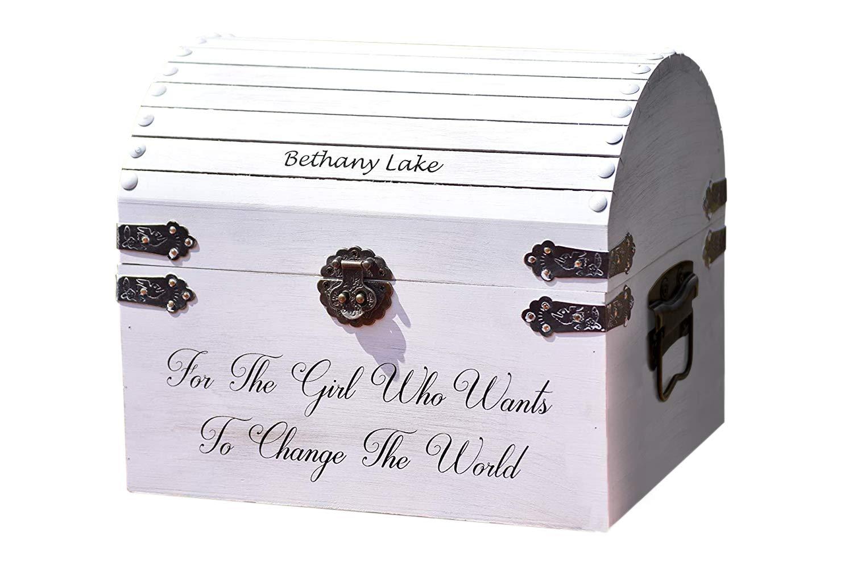 Baby Shower Gift - Kids Treasure Chest - Kids Keepsake Box - Children's Jewelry Box - Toy Box Wood Chest - Kids Birthday Gift - Toy Boxes