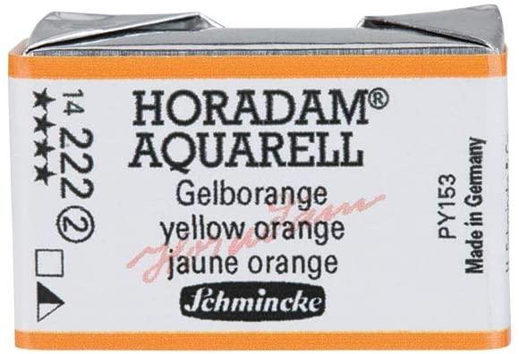 Schmincke Horadam Artists Watercolours - Yellow Orange Whole Pan (Series 2) (222)