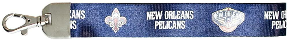 NBA New Orleans Pelicans Wristlet Lanyard, Navy, One Size