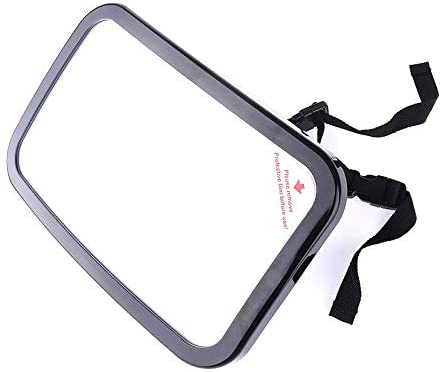 QINMEI Baby Viewing Mirror Seat View Mirror Interior Rearview Mirror Car Baby Large Rearview Mirror (Color : Black)