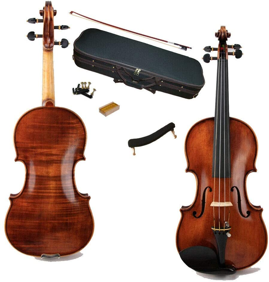 Handmade Violin Spirit varnish 1pic Back EV-C02 Size 3/4
