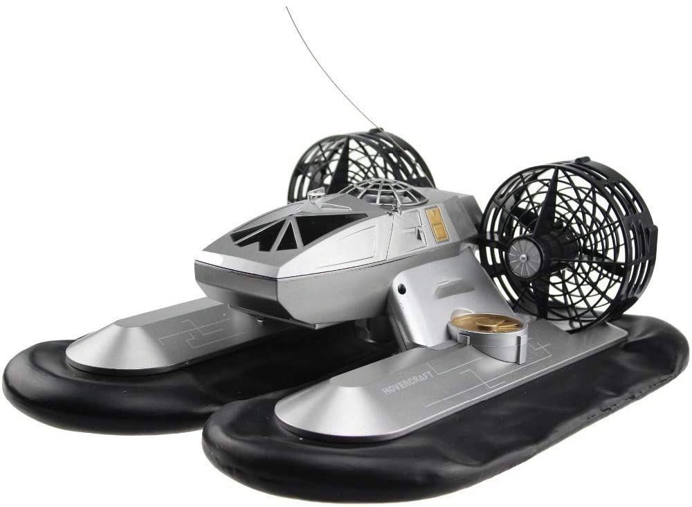 QWERTOUR RC Boat Hovership 1:8 Scales Model 6CH Hovercraft Boat in Water or on Land Simulation Hovercraft Model Electronic Toys for Kids