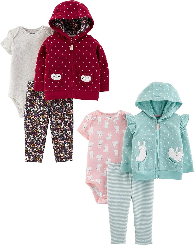 Carters Baby Girls 2-Pack 3-Piece Cardigan Set