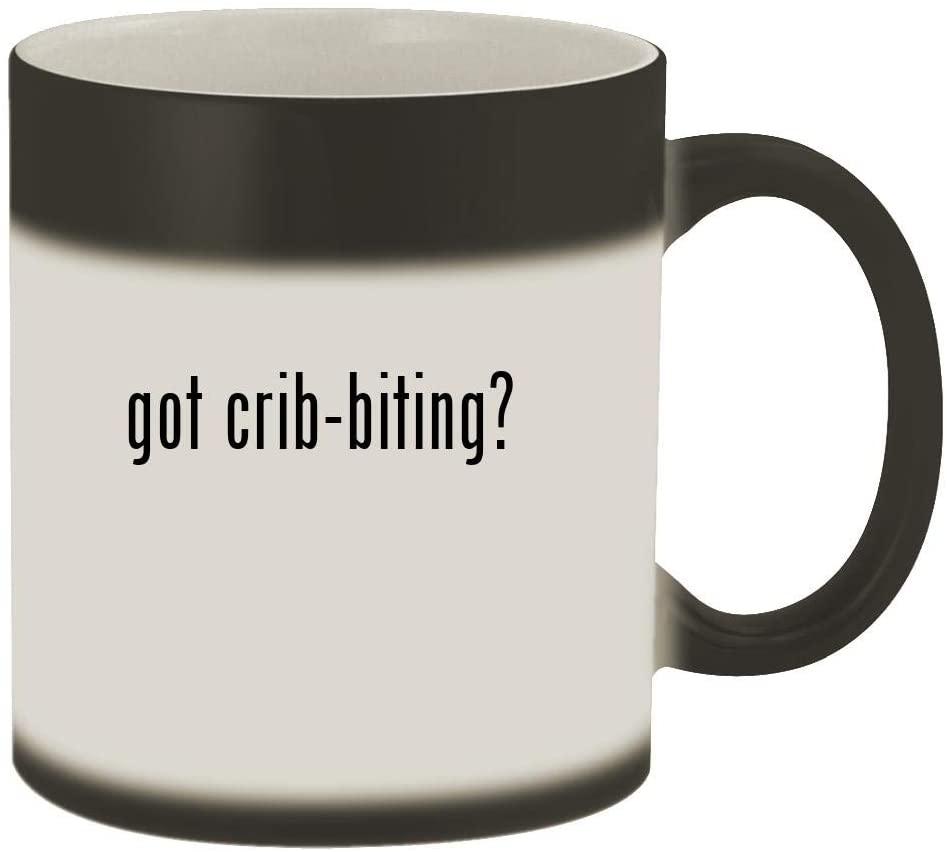 got crib-biting? - 11oz Magic Color Changing Mug, Matte Black