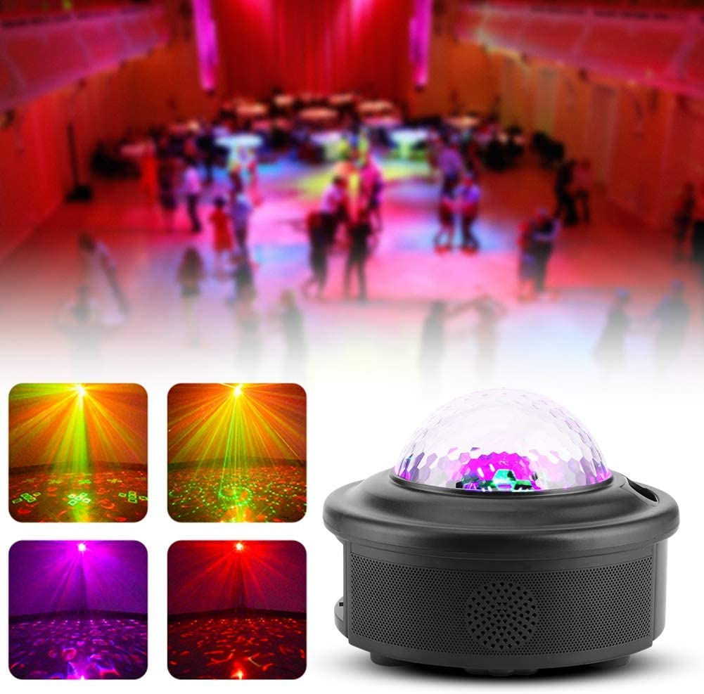 Weiyirot AC 100-240V Star Pattern LED Projection Light, Exquisite Projection Light, Supports Bluetooth Music for KTV Bar Dance Hall