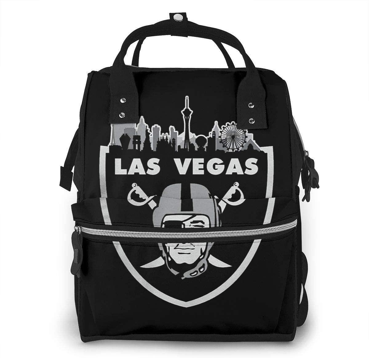 Sherrygeoffrey Las Vegas Raiders Inspired Fans Diaper Backpack Large Capacity Travel Bag