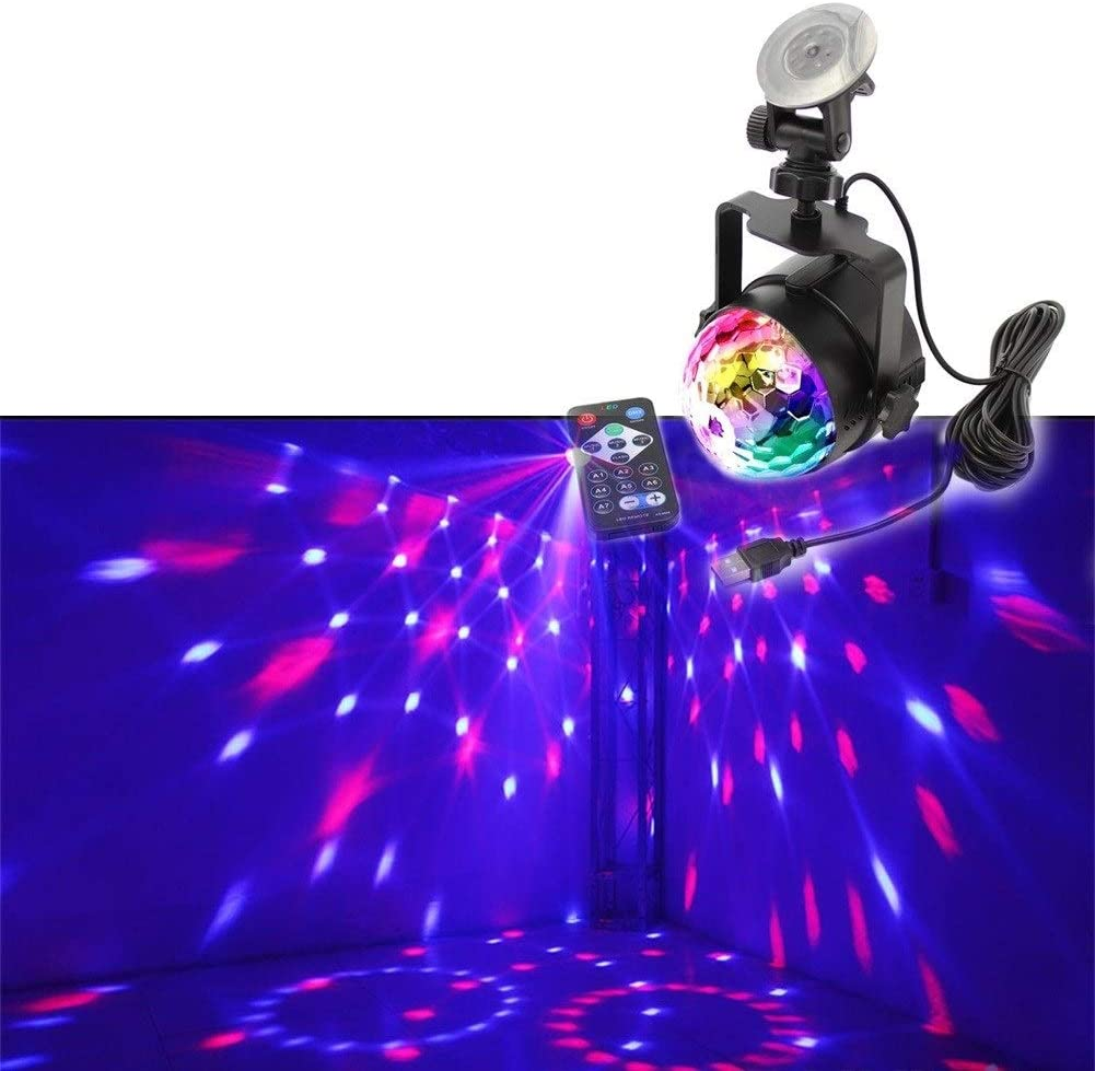 Disco Lights for Parties Disco Lights Party Ball Projector Stage Crystal Lamp 3 Modes Patterns with Remote for Holidays, Home Party,Bar,DJ,KTV,Birthday zhanm7.13