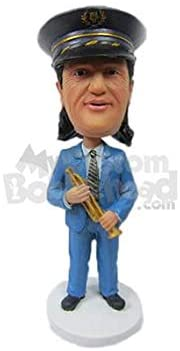 MyCustomBobblehead.com Personalized Bobblehead Trumpetist Playing Trumpet Wearing Formal Attire - Pose & Clothing Style As Shown