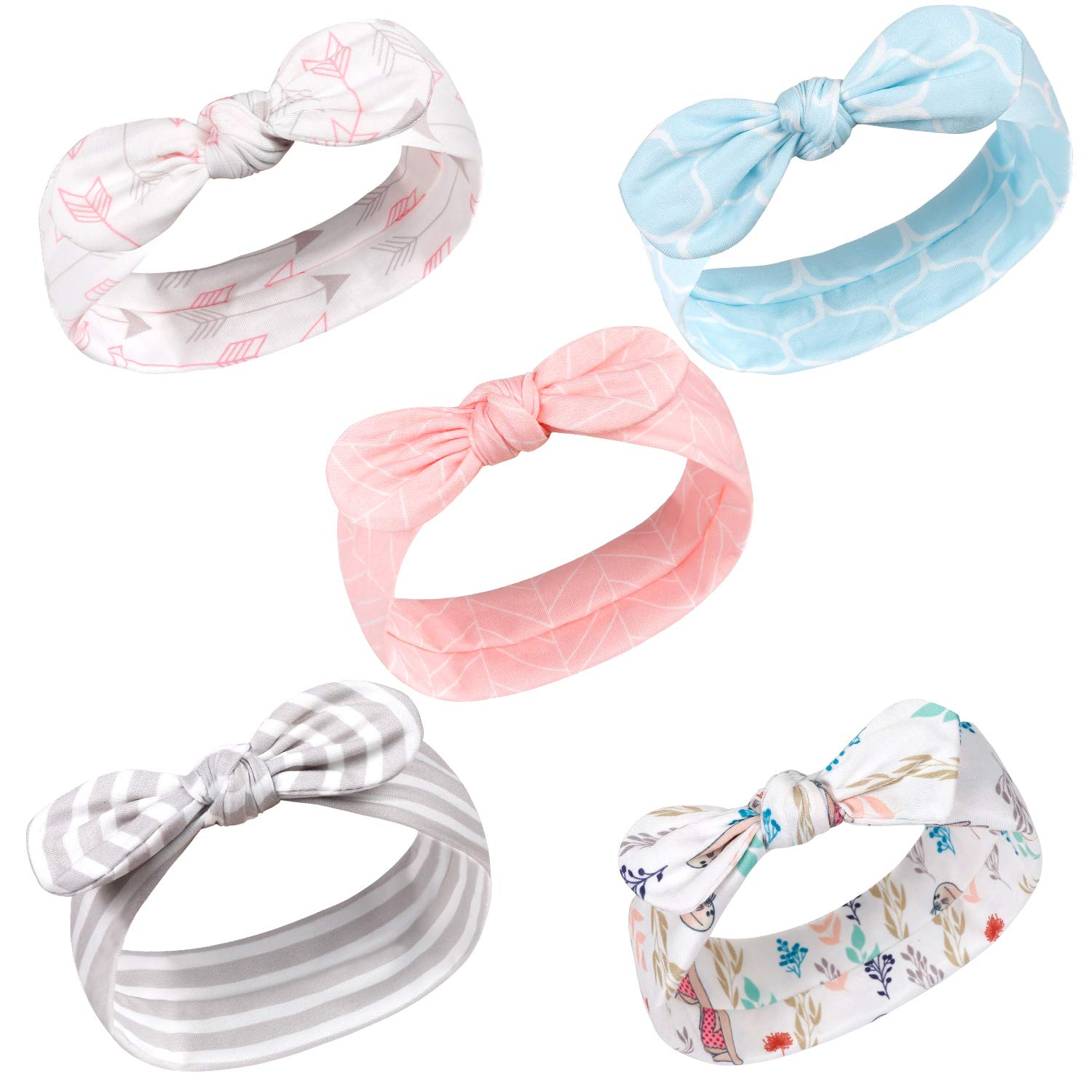 Manual Toddler Girls Headbands Elastic Hair Bow Nylon Hairbands Soft Stretchy Hair Accessories for Baby Girl Infant Kids Teens