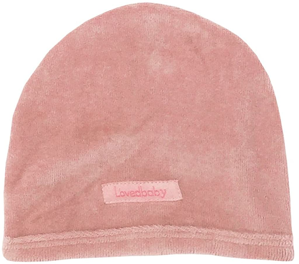 L'ovedbaby Unisex-Baby Organic Infant Cap (0-3 Months, Velour Mauve)