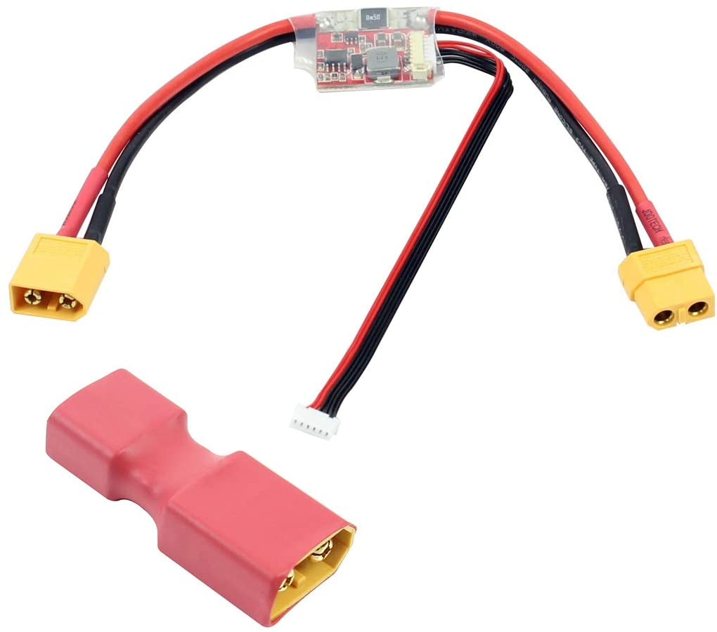 QWinOut APM2.6 2.5 2.52 Power Module Current Module APM with 5.3V DC BEC with XT60 to T Dean Conversion Connector for Flight Control for Battery & Charger (with Male to T Dean Female)