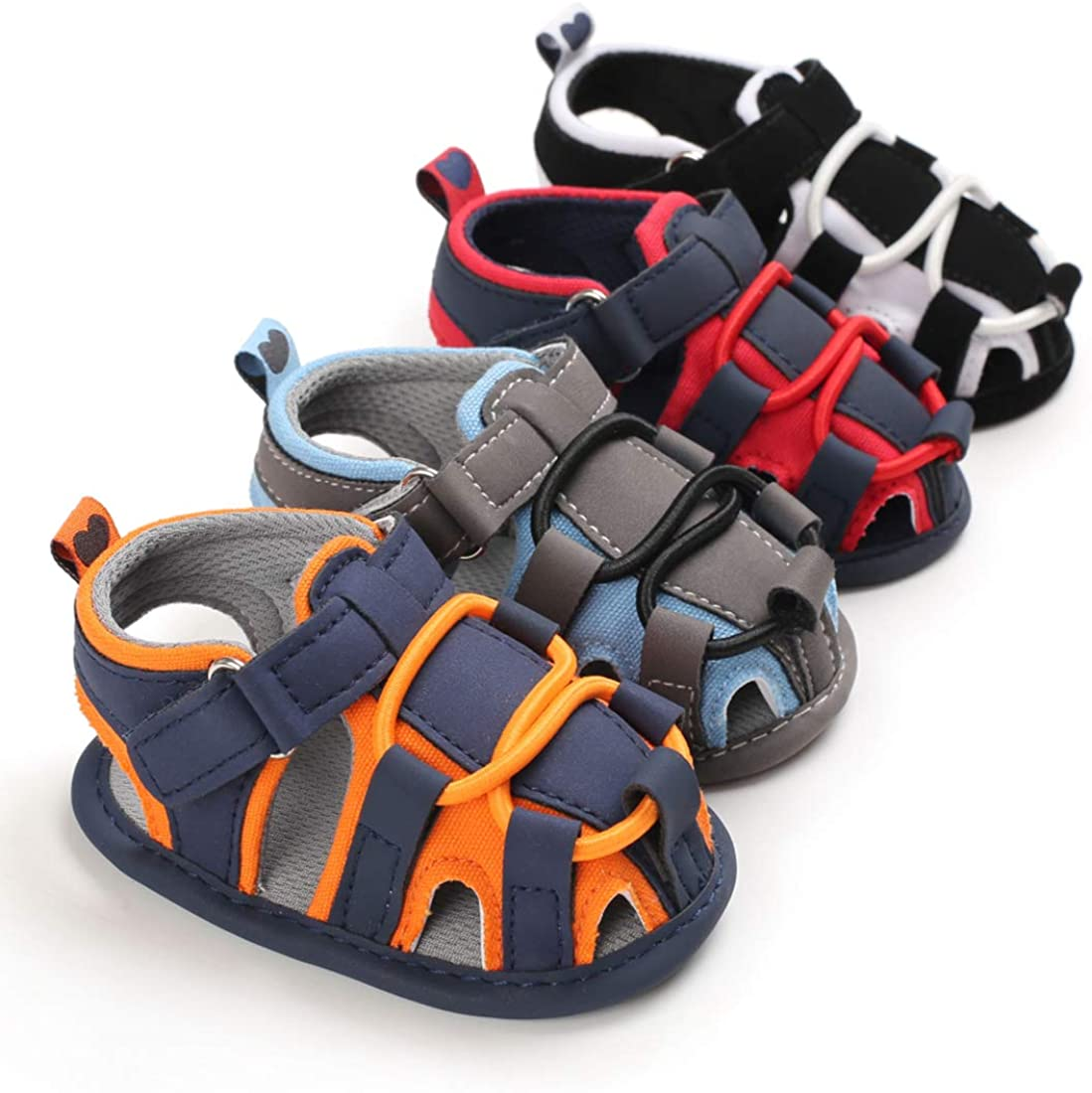 Infant Baby Boys Girls Summer Shoes Athletic Beach Sandal Casual Breathable Anti-Slip Soft Sole Newborn Prewalker First Crib Shoes