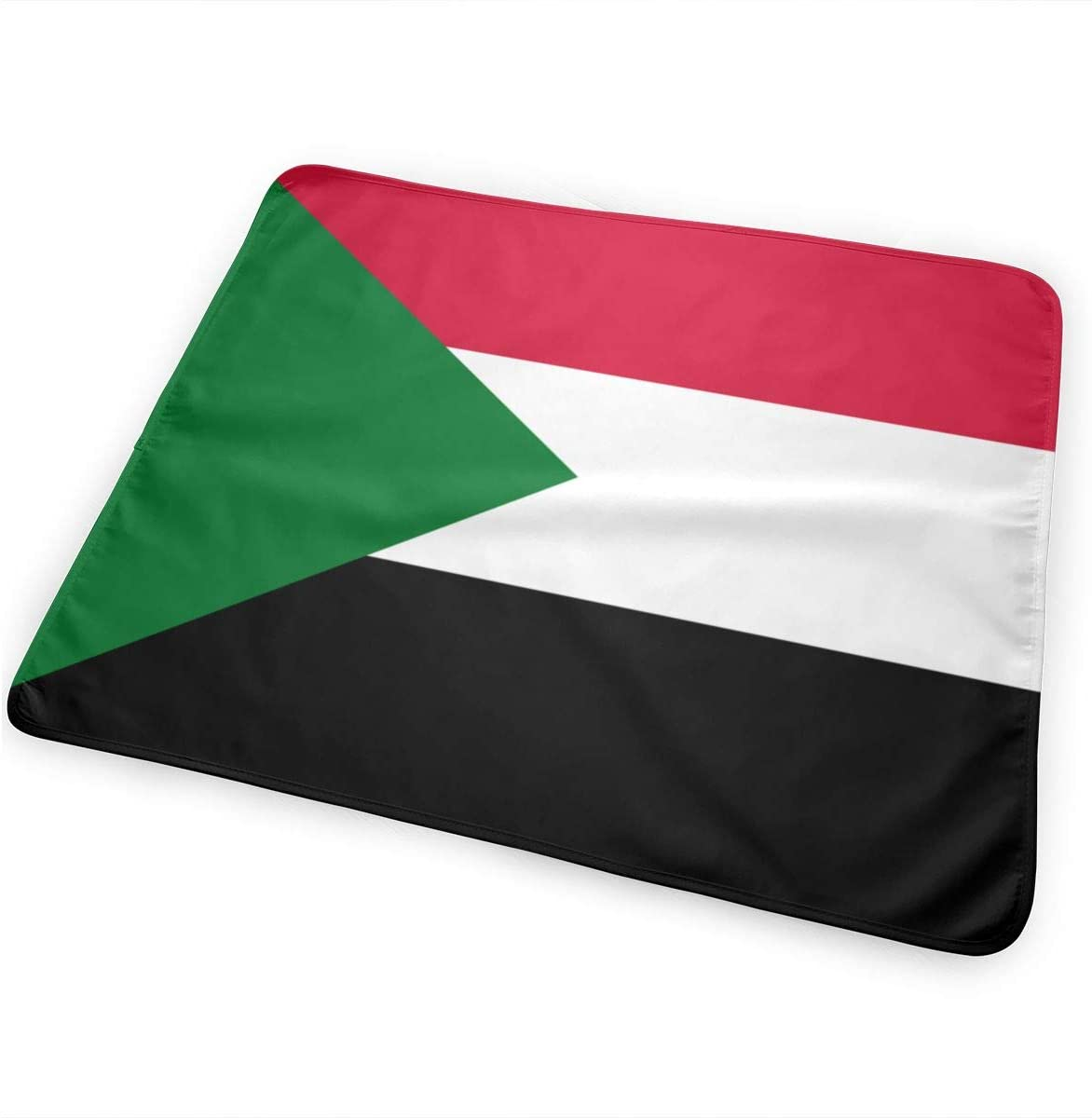 Flag of Sudan Breathable Urine Mat Waterproof Changing Pad for Baby Washable Mattress Pad Sheet Protector