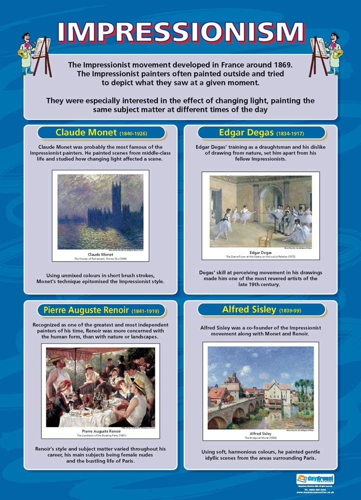 "Impressionism | Art Posters | Gloss Paper Measuring 33"" x 23.5"" 