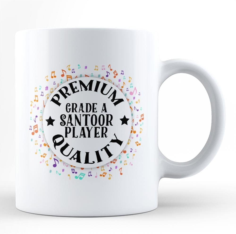 Santoor Player Music Hobby Passion White Coffee Mug By HOM Best Santoor Instrument Player Affordable Gift