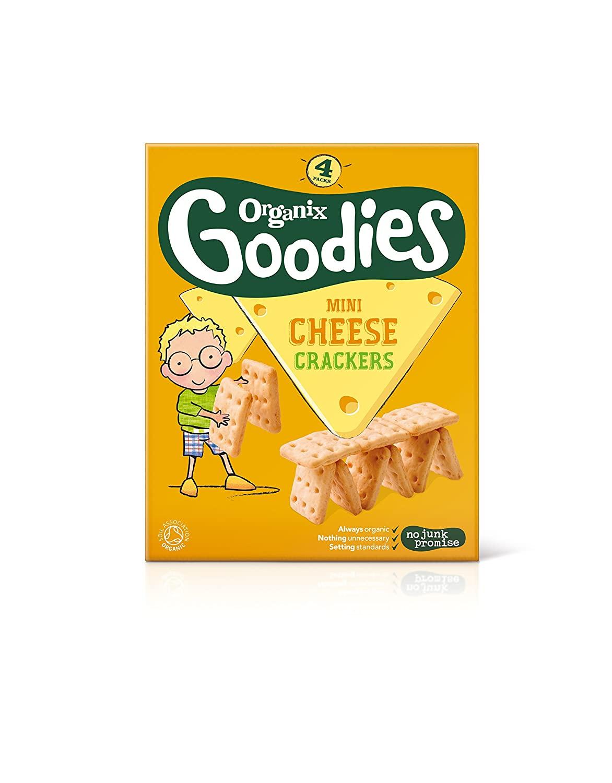 Organix Goodies - Organic Savouries - Mini Cheese Crackers - 4x20g