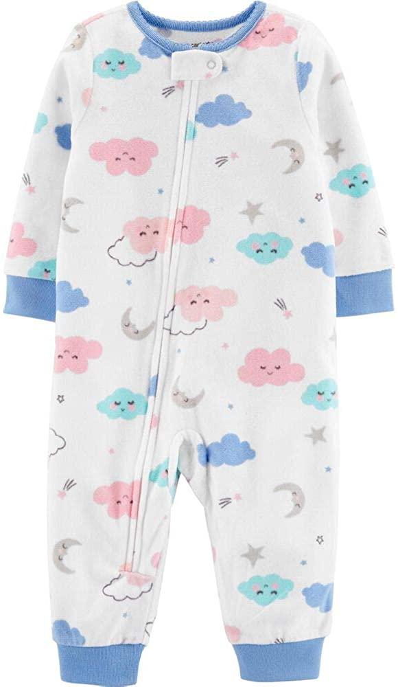 Carter's Footless Fleece Pajamas with Clouds, 1 Piece