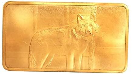 1 oz One Troy Ounce North American Wildlife Series Wolf .999 Fine Copper Bullion Bar Ingot Cu Element